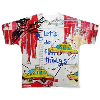 POP ART(To time traveling) フルグラフィックTシャツ