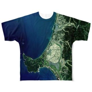 秋田県 男鹿市 Tシャツ 両面 Full graphic T-shirts