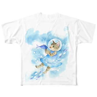 Rosemary*Teaの水中遊泳 Full graphic T-shirts