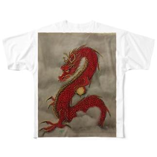 紅龍 Full graphic T-shirts