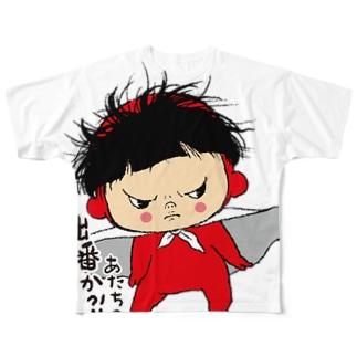 ヒーローあー Full graphic T-shirts