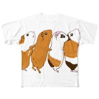 チンアナゴモルモット フルグラフィックTシャツ