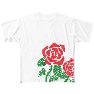 ばら Full graphic T-shirts
