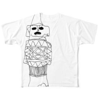 たてもちびと Full graphic T-shirts