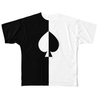 ''スペード'' (前後2面プリント)  フルグラフィックTシャツ