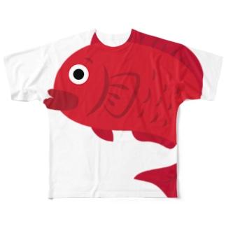 愛で鯛くん Full graphic T-shirts