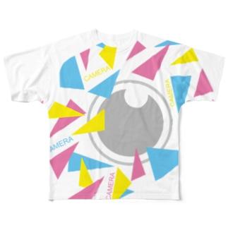 カラフルカメラCAMERA フルグラフィックTシャツ
