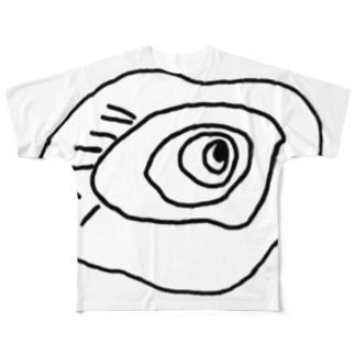 ブラックホールくん Full graphic T-shirts