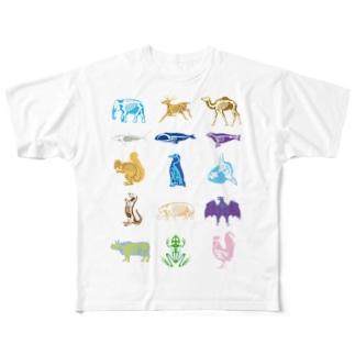 Animalia Anatomy Full graphic T-shirts