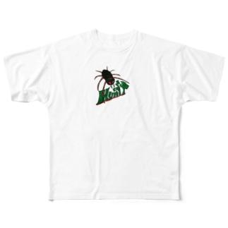 腹ペコ蜘蛛 Full graphic T-shirts