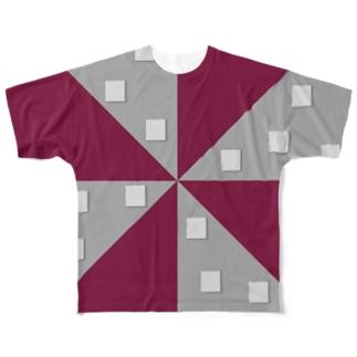 ジオメトリックⅳ(前後2面プリント)  フルグラフィックTシャツ