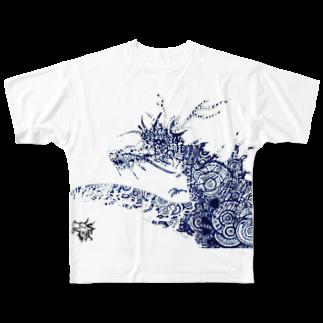 SinのCharles Full graphic T-shirts