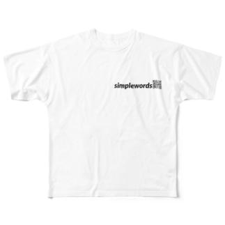 simplewords QRロゴT Full graphic T-shirts