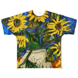 ひまわり(前後2面プリント)  フルグラフィックTシャツ