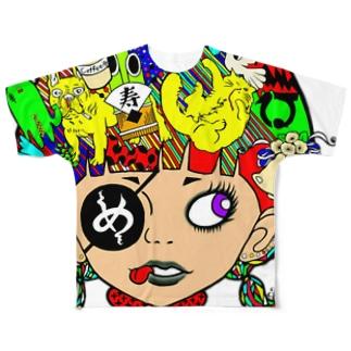 ペロンチョガール Full graphic T-shirts