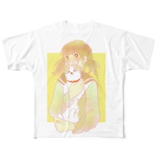 シーズーちゃんと女の子 Full graphic T-shirts