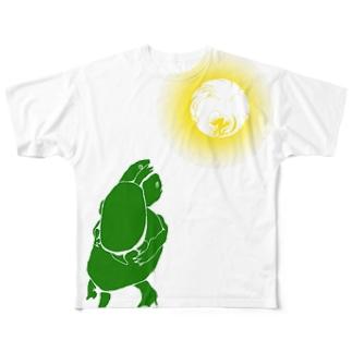 ゼニヲチビ手ィ Full graphic T-shirts