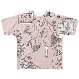 春の花束 Full graphic T-shirts