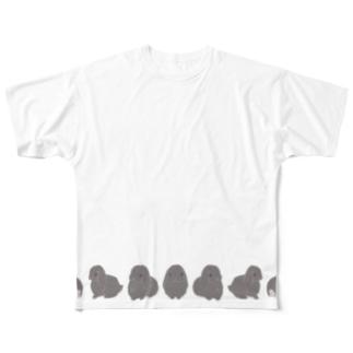 ぐるぐるホーランドロップちゃん Full graphic T-shirts
