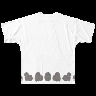 どんぐり商店のぐるぐるホーランドロップちゃん Full graphic T-shirts