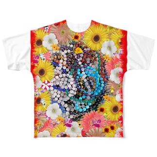 綺麗な花と素敵なジュエリーたちの競演01 Full graphic T-shirts