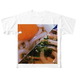 平成さいごと令和さいしょのおうどん Full graphic T-shirts
