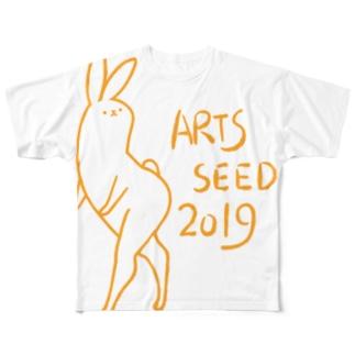 ASO2019×タドリ 美脚うさぎ Full graphic T-shirts