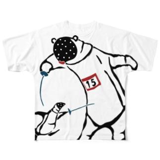 フェンシング Fencing Full graphic T-shirts