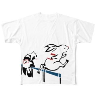 ハードル Hurdle Full graphic T-shirts