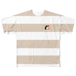 ボーダーTシャツ(明太子) Full graphic T-shirts