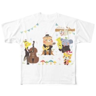 森の動物音楽隊 Full graphic T-shirts