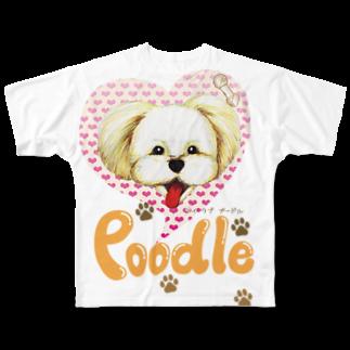 Drecome_DesignのI love poodle Full graphic T-shirts
