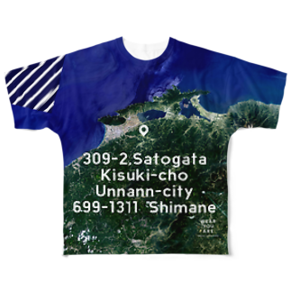WEAR YOU AREの島根県 雲南市 Tシャツ 両面 Full graphic T-shirts
