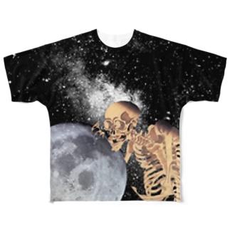がしゃどくろとつき   Full graphic T-shirts