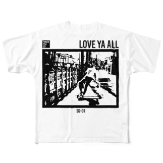 THREE TEA GO. GRAPHIC Full graphic T-shirts