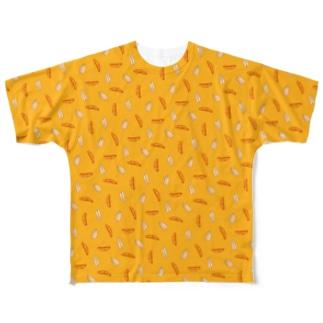 柿ピーにまざるモンT Full graphic T-shirts