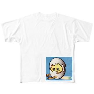 ぴよぴよたまごグッズ★ Full graphic T-shirts