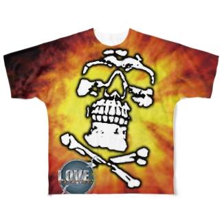 LMTガイコツメッシュTシャツ(両面) Full graphic T-shirts