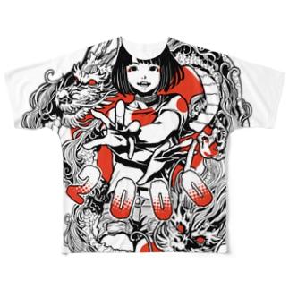 日本国娘2000 Full graphic T-shirts