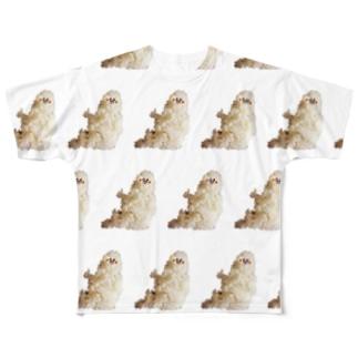 イイねの指のごはん君 Full graphic T-shirts