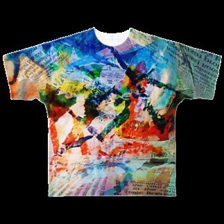 キューブ・ザ・双頭の裸のランチ Full graphic T-shirts