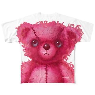 桃くま Full graphic T-shirts