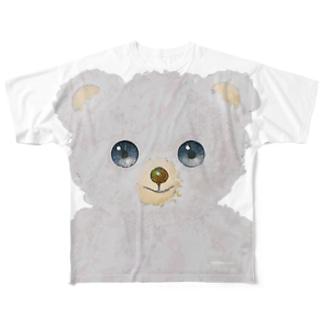 白くま Full graphic T-shirts
