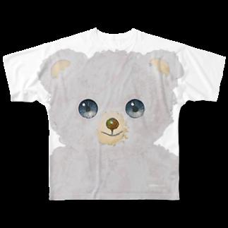 cocoartの雑貨屋さんの白くま Full graphic T-shirts