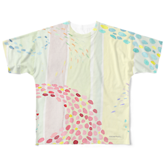 cocoartの雑貨屋さんのなみかぜ(珊瑚) Full graphic T-shirts