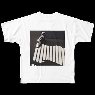 _massyuのももちゃん Full graphic T-shirts