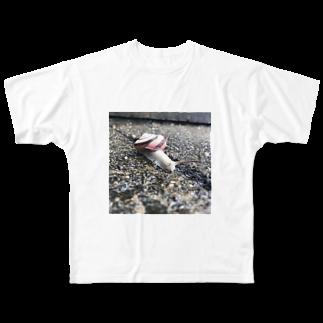 _massyuのかたつむり Full graphic T-shirts