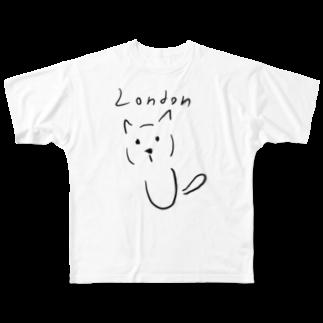 Maison PommeのLondon Cat - maison pomme Full graphic T-shirts