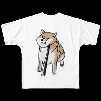 へんなものずかんの拒否柴 Full graphic T-shirts