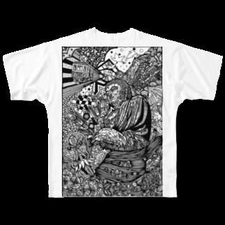 イトスク の鎌倉ワールド Full graphic T-shirts